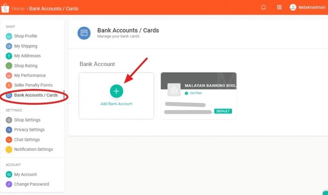 bank accounts details
