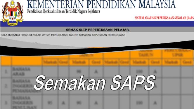 SAPS ibu bapa pelajar 2020 sistem analisis peperiksaan sekolah